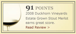 91 Points, Stout Merlot