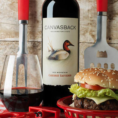 Beef Burgers with Cabernet