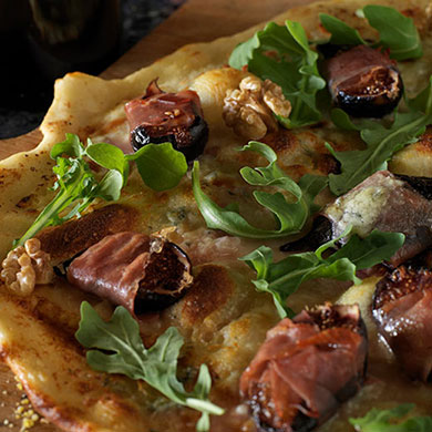 Blue Cheese, Fig and Parma Ham Flat Bread