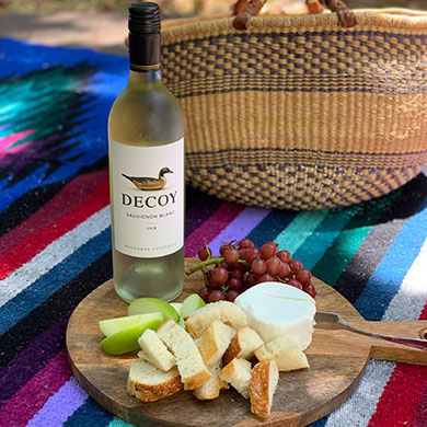 Sauvignon Blanc with goat cheese