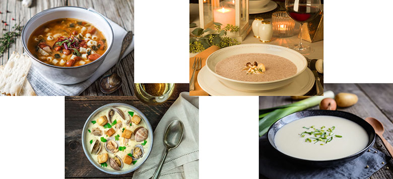 Winter Soups paired with The Duckhorn Portfolio Wines