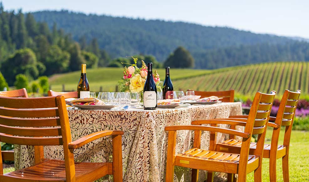 Summer Solstice North Winemaker Dinner Event at Goldeneye