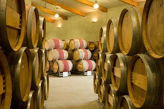 wines in barrel