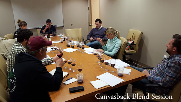 DWC winemaker blend options tasting