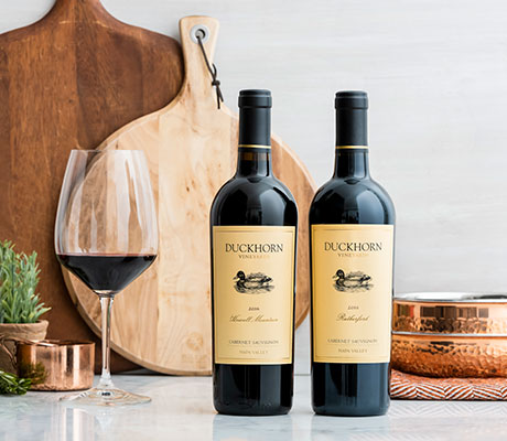 Duckhorn Vineyards wines on a kitchen counter
