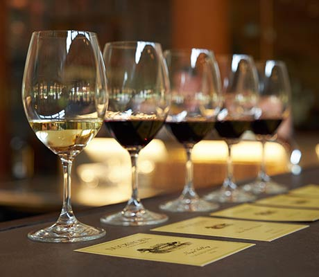 wine tasting with tasting notes