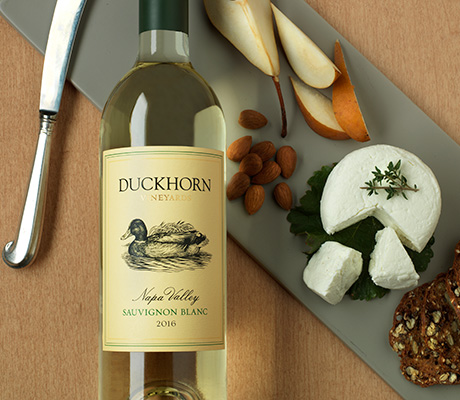 Duckhorn Vineyards Sauvignon Blanc with cheese