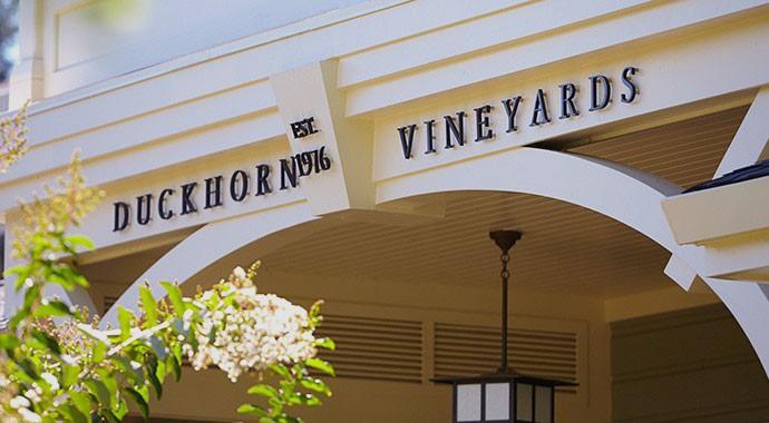 Entrance to Duckhorn Vineyards estate house