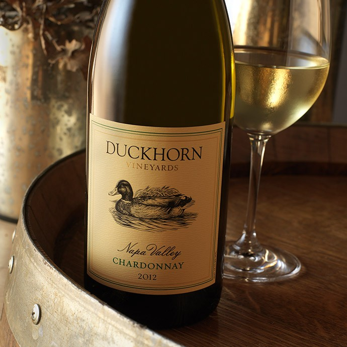 Bottle of Duckhorn Chardonnay upon release in 2012