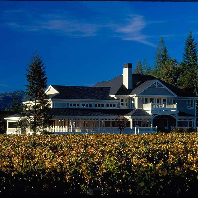Original image of Duckhorn estate house when complete in 2001