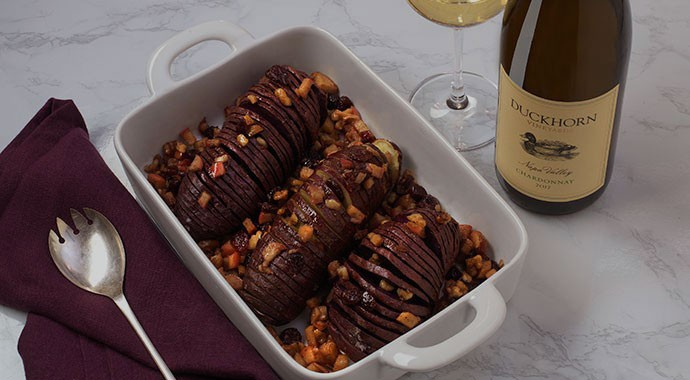 Hasselback Sweet Potatoes recipe