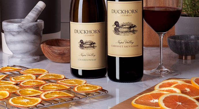 Dried Citrus for the Holidays with Duckhorn wines
