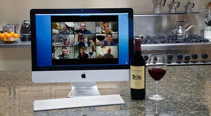 Duckhorn Portfolio winemakers having a virtual tasting